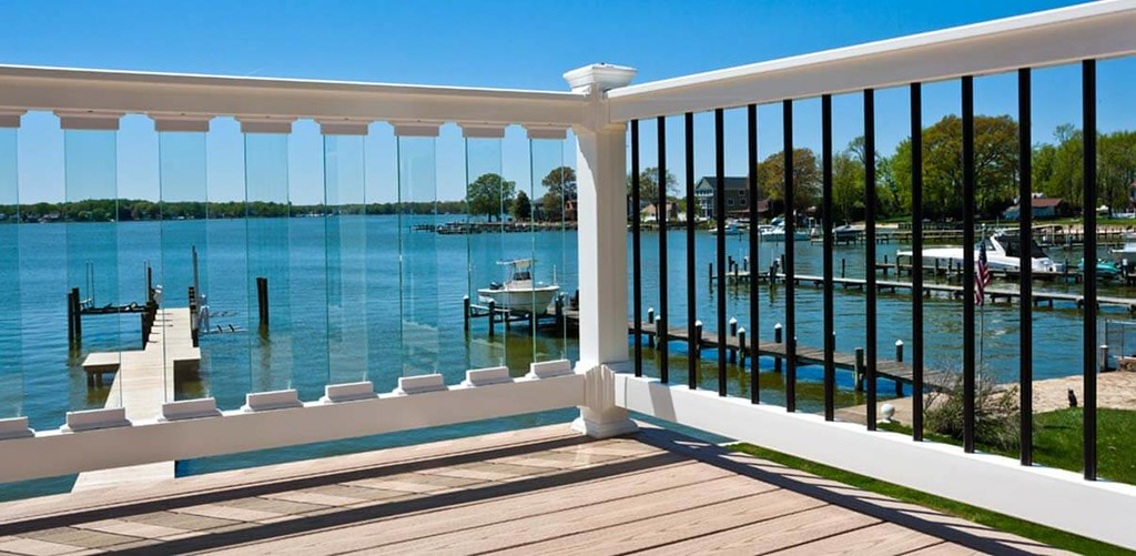 PVC Railing overlooking docks