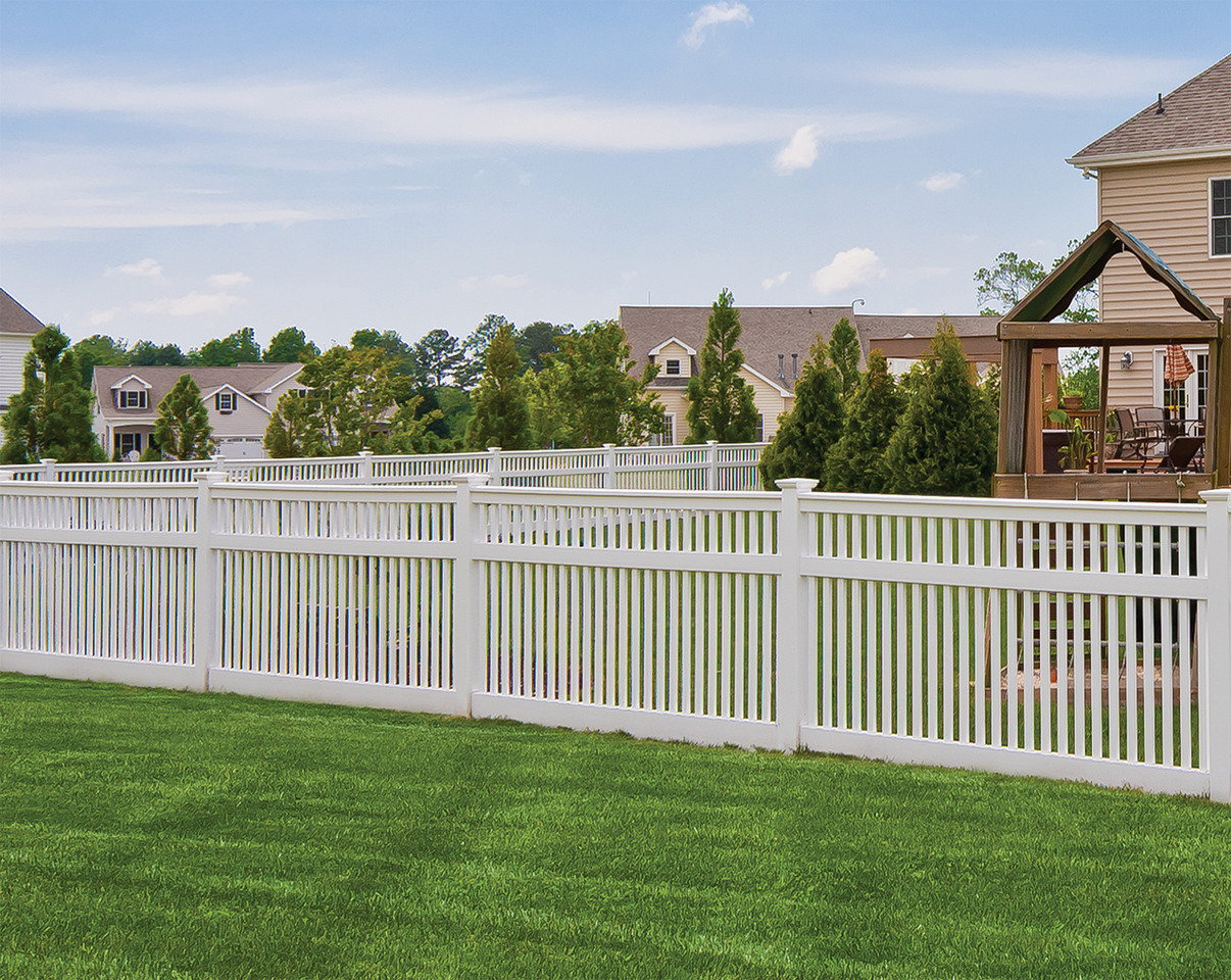 White PVC Privacy Fence