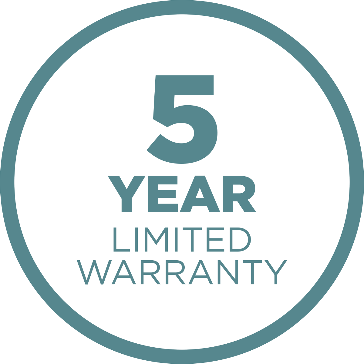 5-Year Limited Warranty Icon