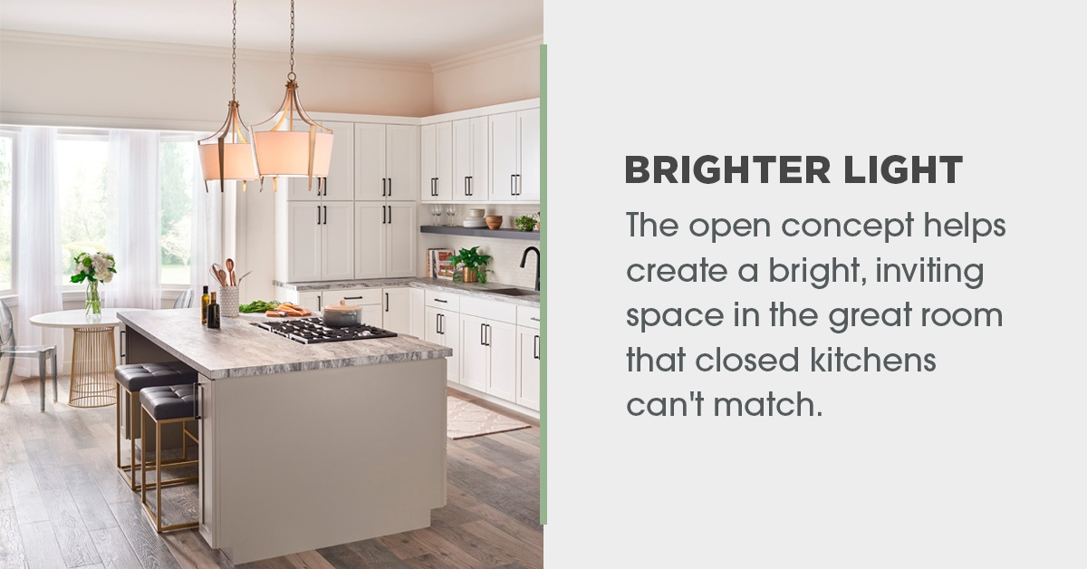 Brighter Light in Open Concept Kitchens
