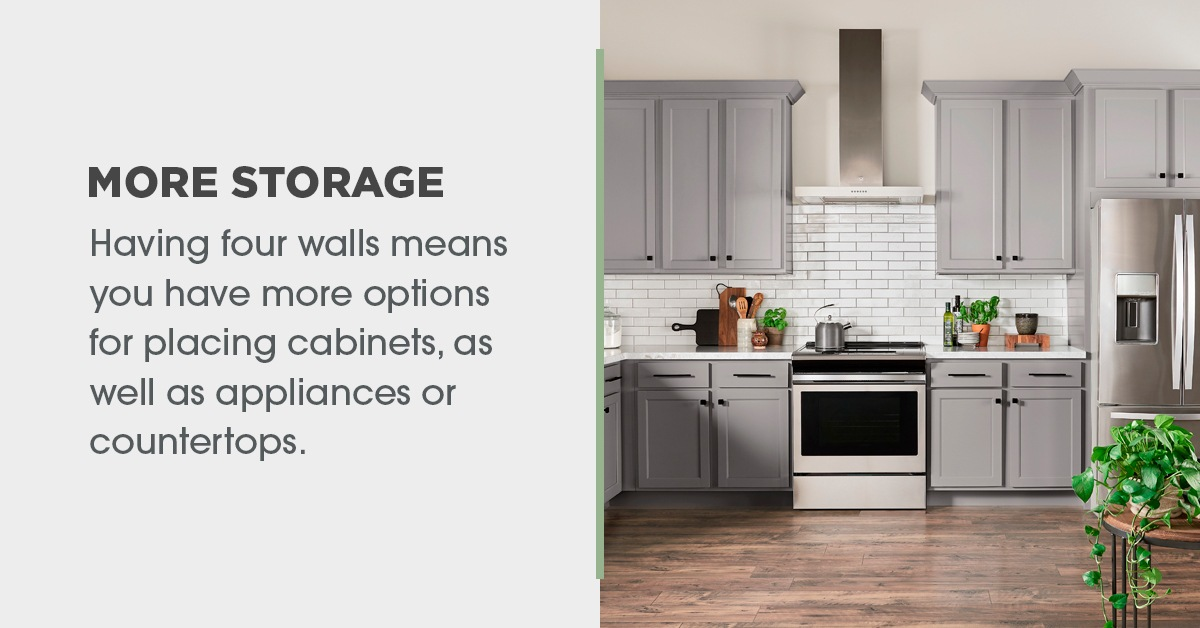 More Storage in Closed Concept Kitchens