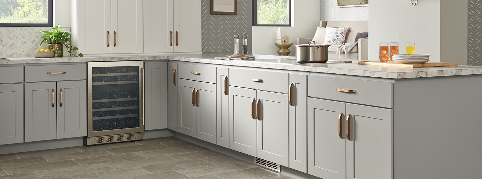 Dartmouth Cabinets in Pewter
