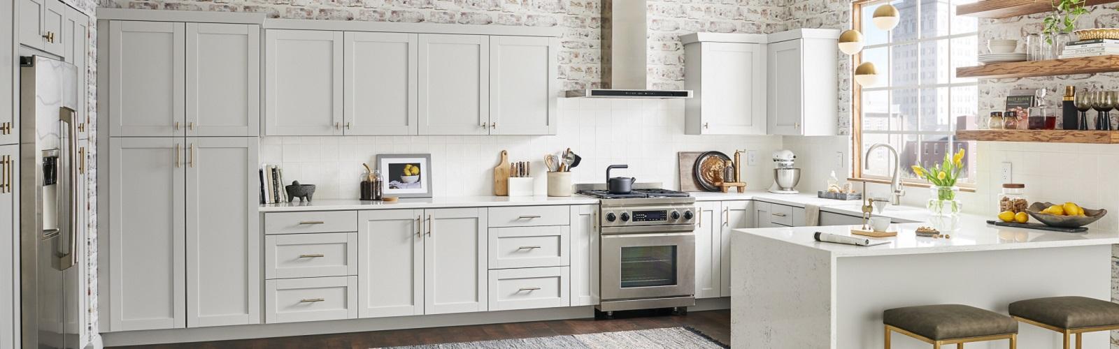 Wolf Endeavor White Kitchen Cabinets