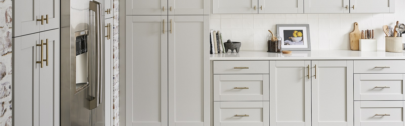 Shaker Style White Cabinets